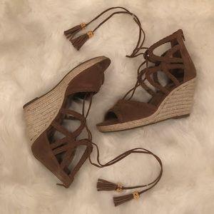 Rampage Ram Carlita Cognac Wedge Sandals